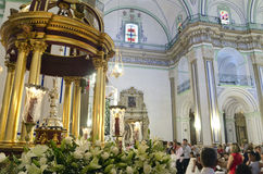 Corpus Christi in velez-Rubio, Almeria, Spanje Stock Afbeeldingen