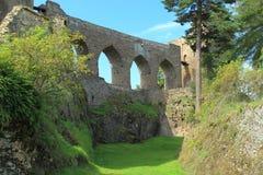 Velhartice城堡废墟  免版税库存照片