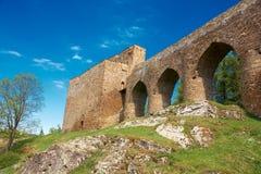 Velhartice castle. Stone bridge of the Velhartice castle royalty free stock photography