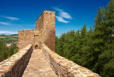 Velhartice castle. Stone bridge of the Velhartice castle. Czech republic Royalty Free Stock Image