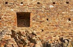 Velhartice castle. Stone wall of the Velhartice castle. Czech republic Royalty Free Stock Image