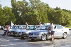 Velho-carro BMW 5 séries Foto de Stock