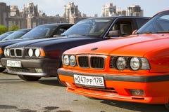 Velho-carro BMW 5 séries e34 Fotos de Stock Royalty Free
