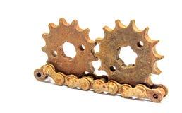 Velho chain das engrenagens Imagens de Stock Royalty Free