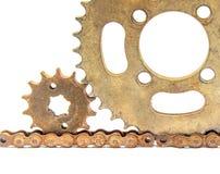 Velho chain das engrenagens Fotografia de Stock Royalty Free