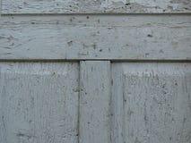 Velho crecked a placa de madeira cinzenta da porta comida por sem-fins e por besouros Pintura cinzenta descascada imagem de stock royalty free