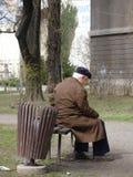 Velho e sozinho Foto de Stock Royalty Free
