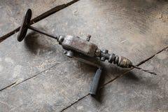 Velho fure dentro o warkshop Imagem de Stock