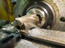 Velho geen a máquina de trituração, close up, metalúrgico Foto de Stock