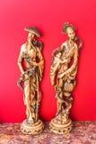 Velho, homem e mulher, estatuetas chinesas foto de stock royalty free