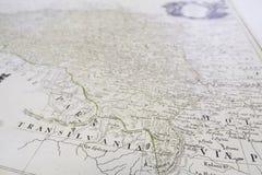 Velho-mapa Foto de Stock Royalty Free