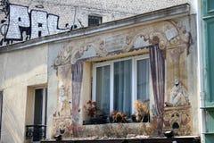 Velho & novo em Paris foto de stock