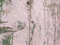 Velho pintado com a prancha de madeira cor-de-rosa foto de stock