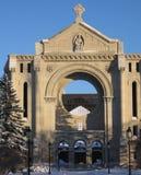 Velho, queimado abaixo da igreja em Winnipeg Imagens de Stock Royalty Free