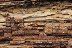 Velho woden a textura do fundo com teste padrão natural fotografia de stock royalty free