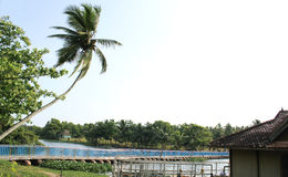 Veli lake bridge in Kerala Stock Photos