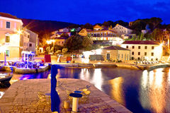 Veli Losinj bay evening view Stock Images