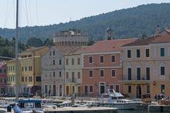 Veli losinj croatia. The colorful harbour of Veli Losinj in Croatia Royalty Free Stock Photography