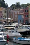Veli losinj croatia. The colorful harbour of Veli Losinj in Croatia Royalty Free Stock Photos