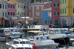 Veli losinj croatia. The colorful harbour of Veli Losinj in Croatia Royalty Free Stock Images