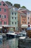 Veli losinj croatia. The colorful harbour of Veli Losinj in Croatia Stock Photos