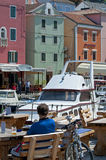 Veli losinj croatia. The colorful harbour of Veli Losinj in Croatia Stock Images