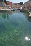 Veli losinj croatia. The colorful harbour of Veli Losinj in Croatia Royalty Free Stock Photo