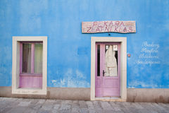 VELI LOSINJ, CROATIA. JUN 10: Small picturesque bakery on June 10, 2013 in . Island is known as a tourist and aromatherapy centre Stock Image