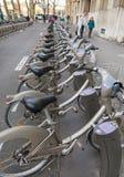 Velib bicycles Stock Photography