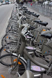 Velib bicycles in Paris, France Royalty Free Stock Images