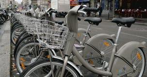 Velib Bike renting stock video