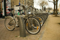 Velib public bicycle sharing Paris Stock Photos