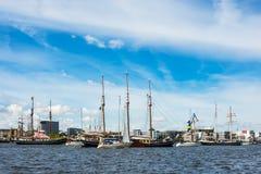 Veliero sulla vela di Hanse a Rostock, Germania Fotografie Stock