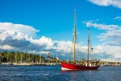 Veliero sulla vela di Hanse a Rostock, Germania Immagine Stock Libera da Diritti