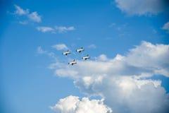 Velika Gorica, Chorwacja Maj 13, 2017 aerobatic grupowy Krila Oluje Zdjęcia Stock