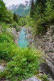 Velika Korita de rivière de Soca Photo stock