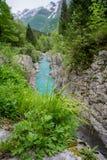 Velika Korita del río de Soca foto de archivo