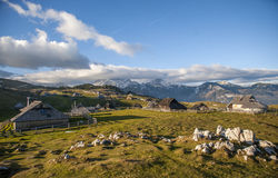 Velika Planina kulle, Slovenien Royaltyfri Bild