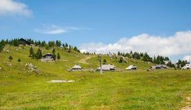 Velika Planina kulle, Slovenien Arkivbild