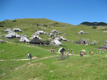 Velika planina mountain Royalty Free Stock Image