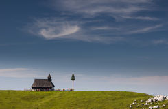 Velika planina, Slovenia. A church at Velika planina, Slovenia Royalty Free Stock Photos
