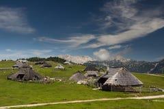 Velika planina, Slovenia. Hut on Velika planina, Slovenia Stock Image