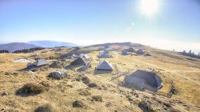 Velika planina in Slovenia Royalty Free Stock Photography
