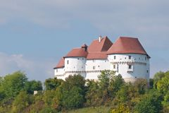 Veliki塔博尔是一个城堡和博物馆在西北克罗地亚,建于15世纪中部  免版税库存图片
