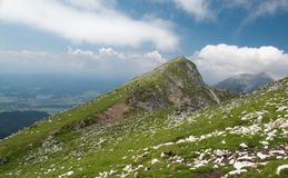 Veliki Vrh mountain in Karawanken mountains Stock Photography