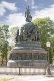 Velikiy Novgorod Het Millennium van het monument van Rusland stock afbeelding