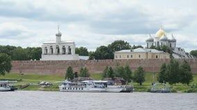 St. Sophia Cathedral in Veliky Novgorod, Russia stock video