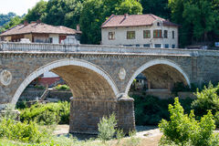 Veliko Tarnovo. Ancient stone bridge Royalty Free Stock Photography
