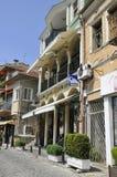 Veliko Tarnovo BG, am 15. August: Alte Straße der mittelalterlichen Stadt Veliko Tarnovo von Bulgarien Lizenzfreies Stockfoto