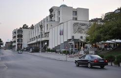 Veliko Tarnovo BG, am 15. August: Straßenansicht in die mittelalterliche Stadt Veliko Tarnovo von Bulgarien Lizenzfreie Stockfotos